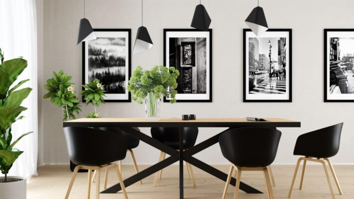 Industrial Style Dining Room Design
