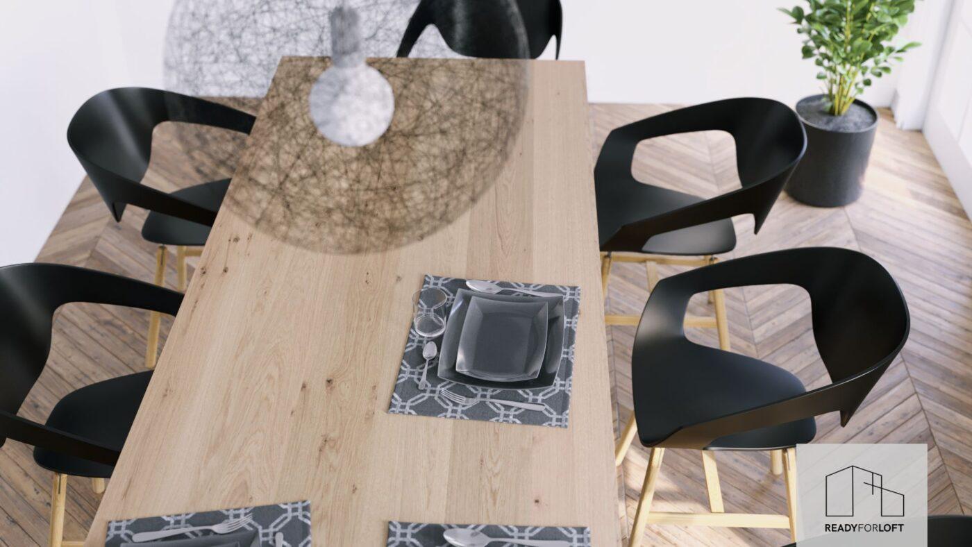 Berg Oak Table with Matrix Leg