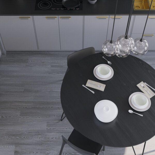 Black Olden Round Oak Table