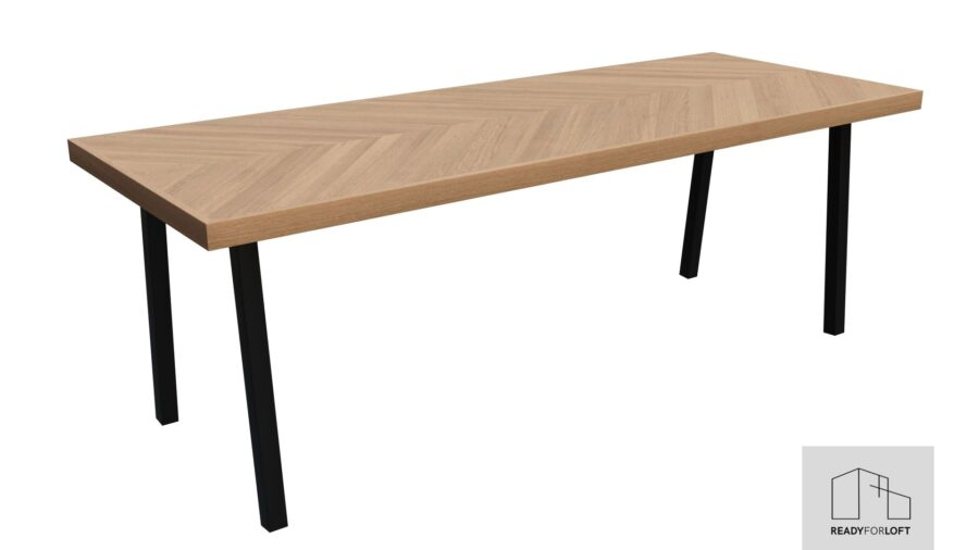 Fortun Fishbone Table with A Legs