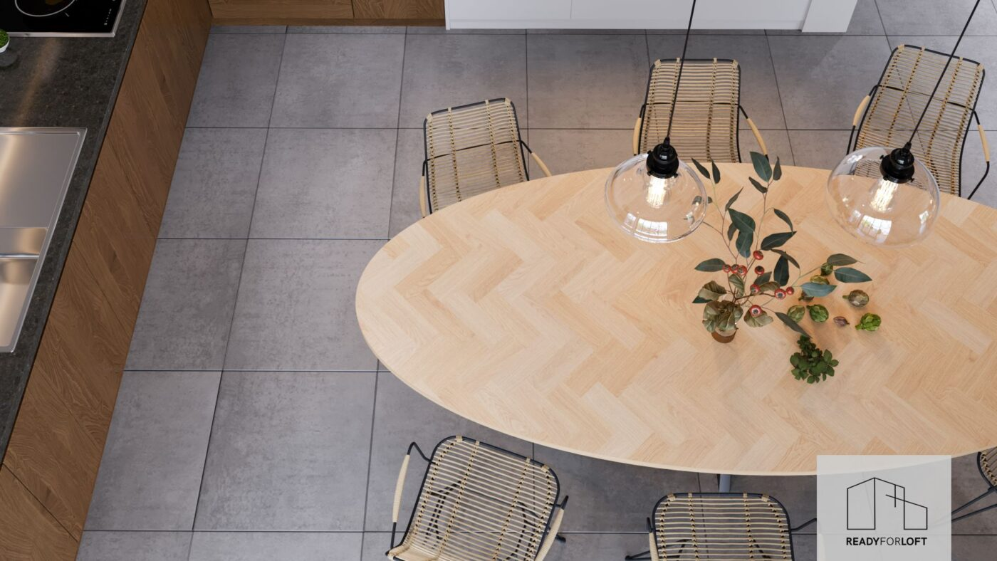 Oval Volden Fishbone Table with Matrix Leg