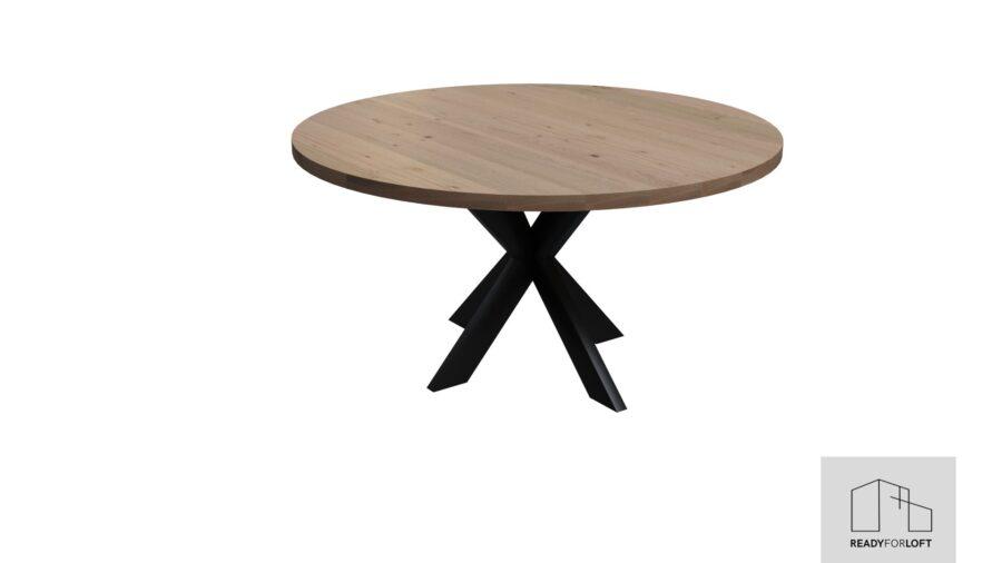 Runder Berg Eiche Tisch mit Matrix Bein