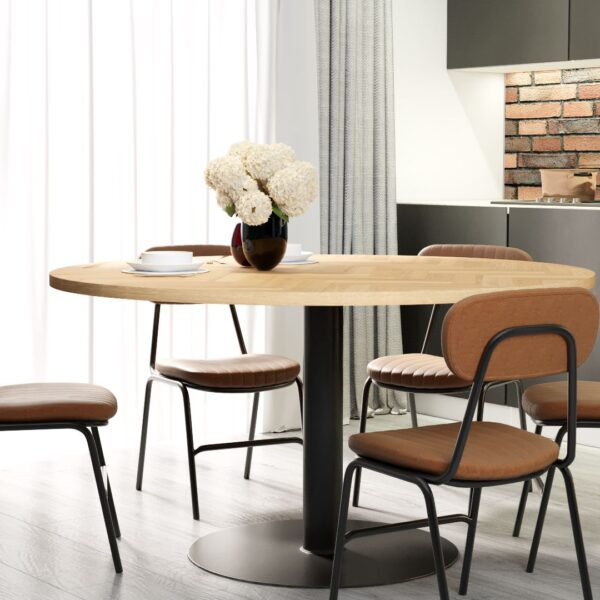 Round Volden Fishbone Table with Tube Leg