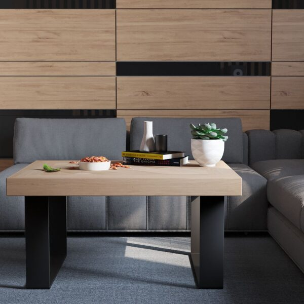 Volden Fishbone Coffee Table with U Legs