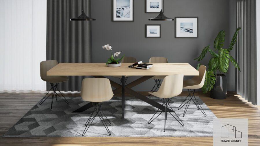Volden Fishbone Table with Matrix Leg