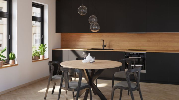 Industrial Loft Round Dining Tables